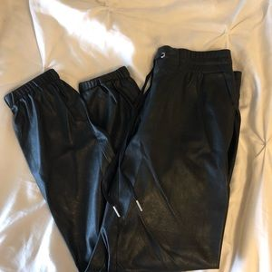 n:PHILANTHROPY Pants - N:philanthropy faux leather joggers small
